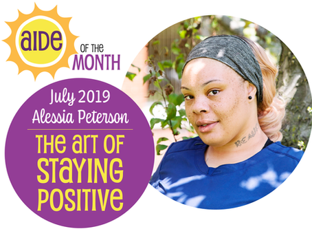 July 2019 Aide of the Month - Alessia Peterson