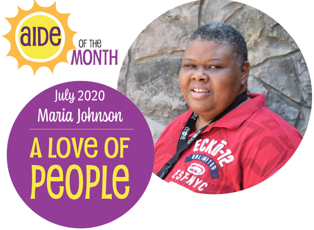 July 2020 Aide of the Month — Maria Johnson