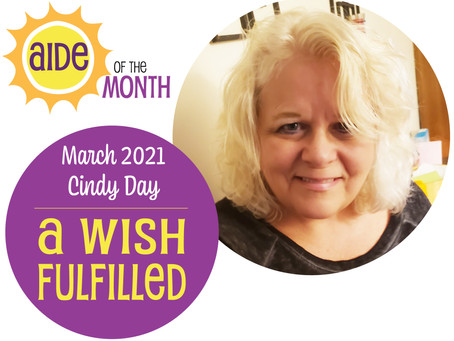 March 2021 Aide of the Month - Cindy Day