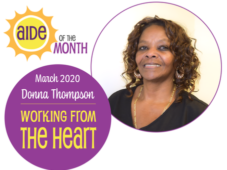 March 2020 Aide of the Month—Donna Thompson