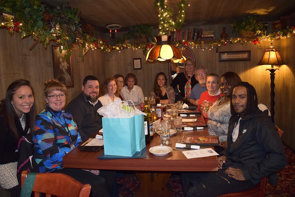 The CCOR team celebrating Michael and Unnika.