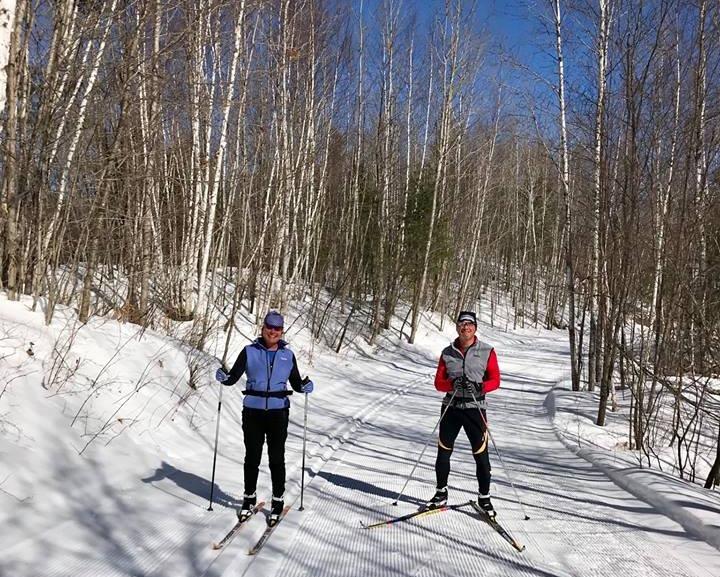 skiing on trail at minocqua winter resort