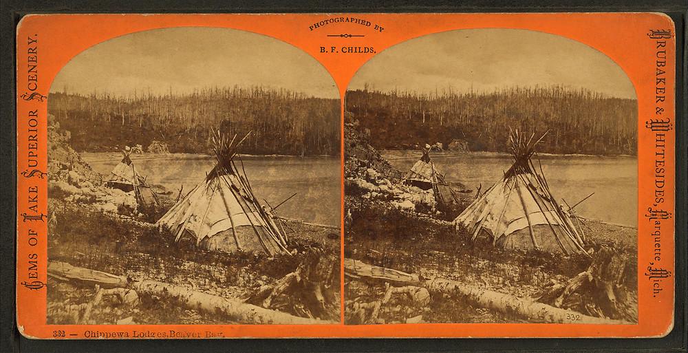 Ojibwe history image in lac du flambeau