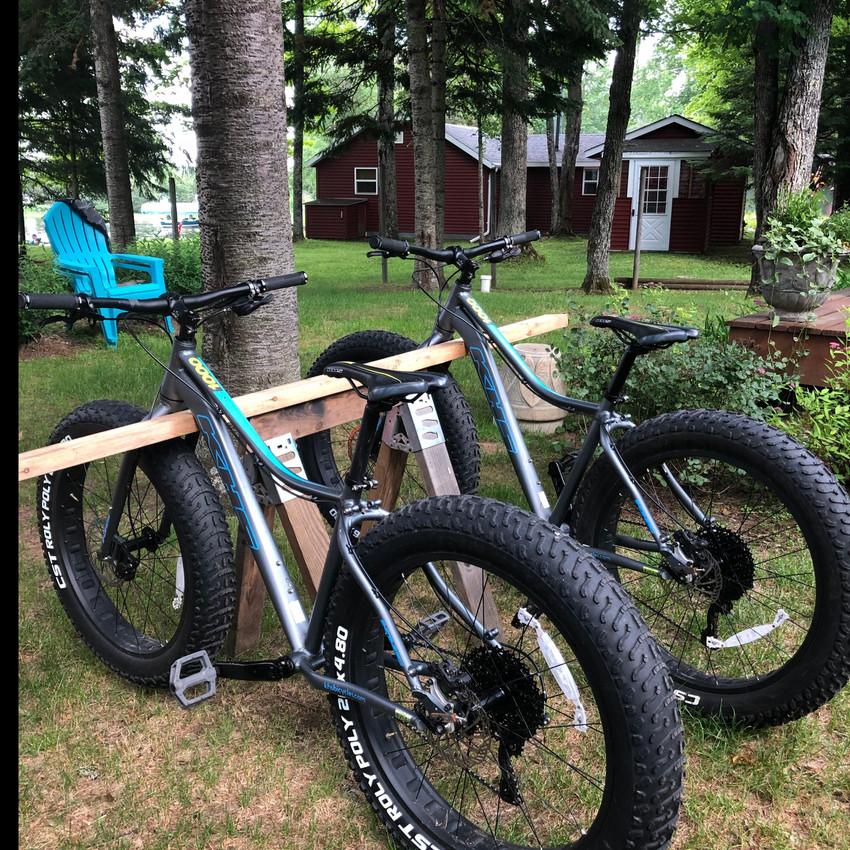 fat tire bikes at birch trail resort