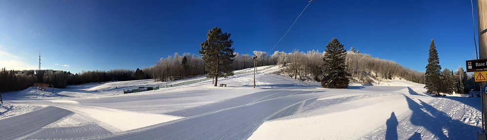 wisconsin winter park wide angle view