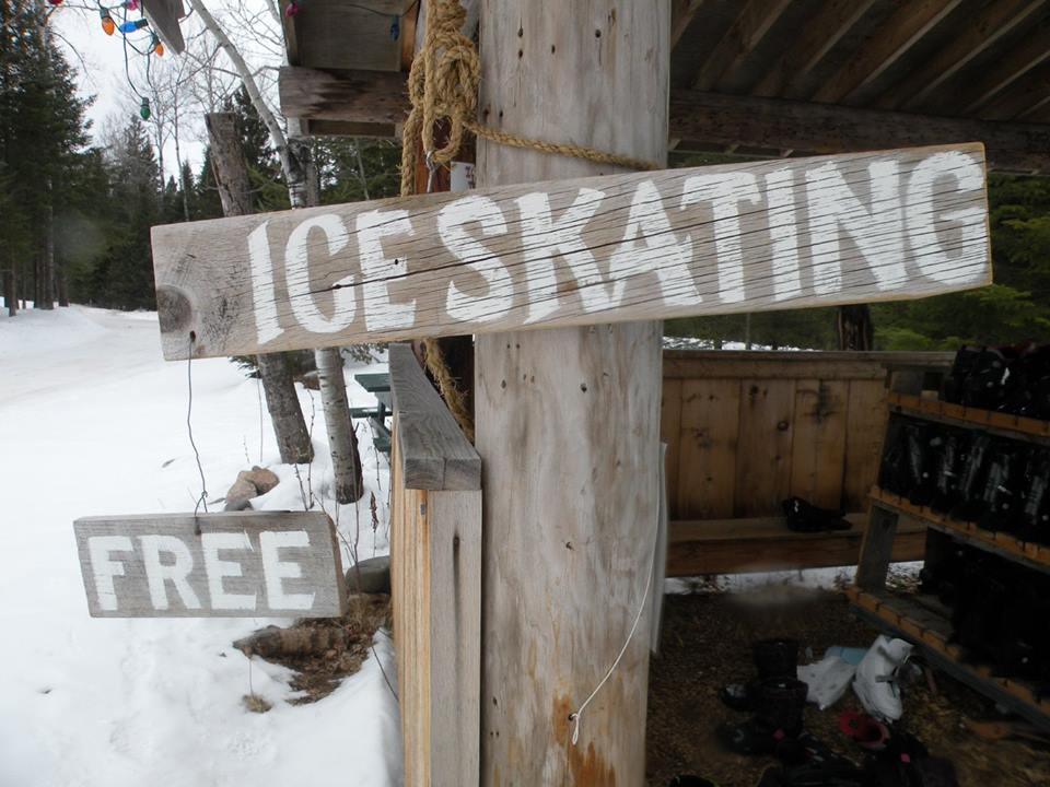 ice skating sign wisconsin