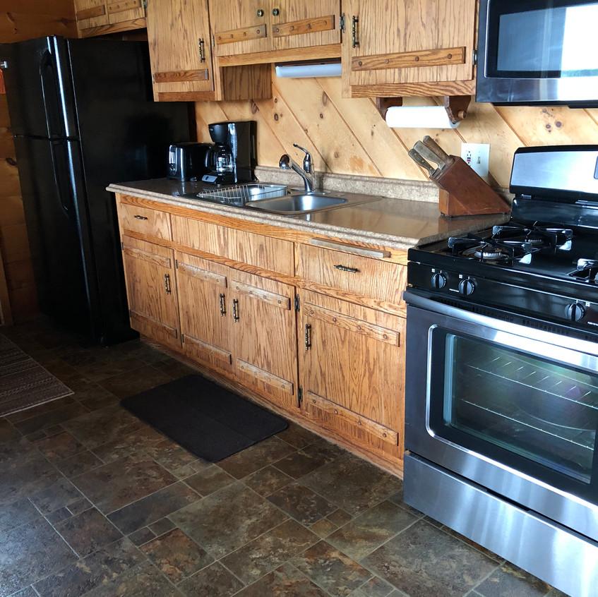 cabins northern wisconsin kitchen
