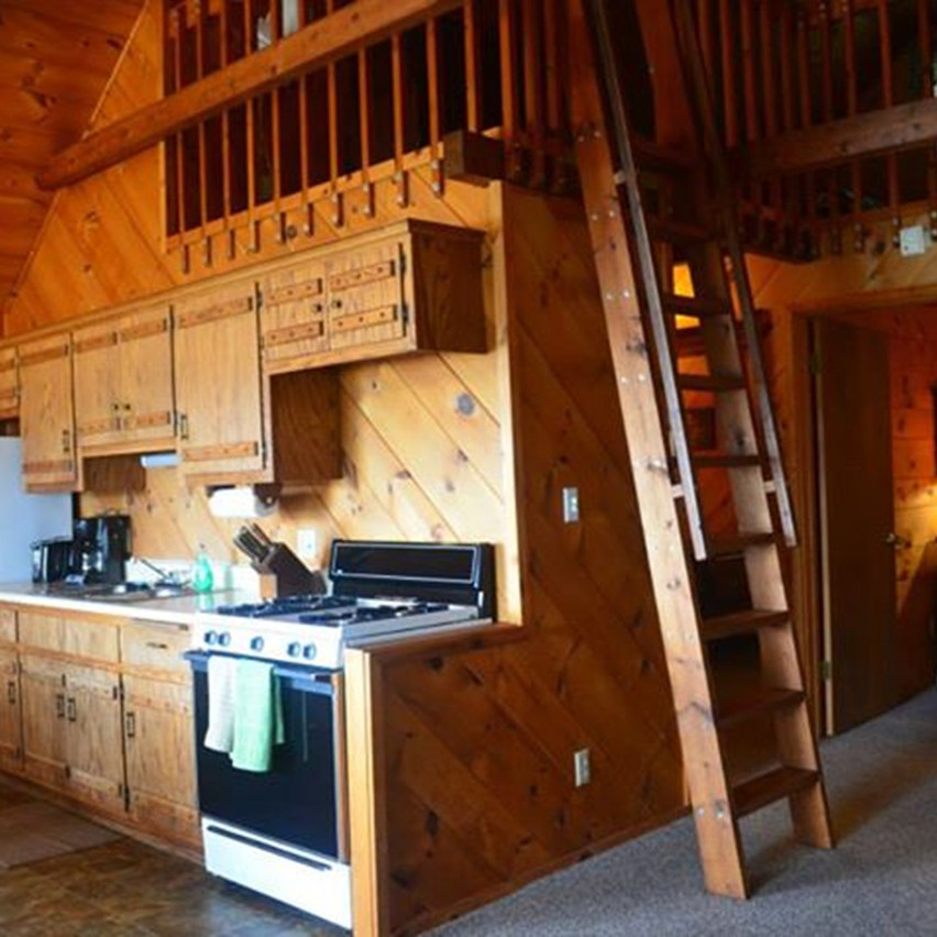 Wisconsin ice fishing cabin kitchen
