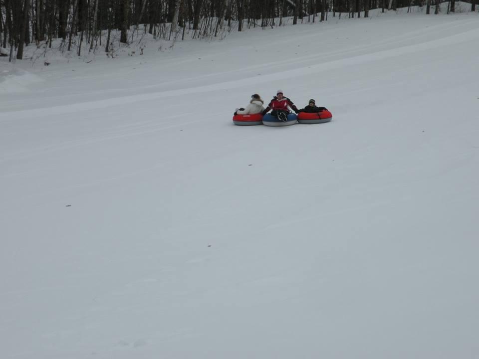 snow tubing at minocqua winter resort