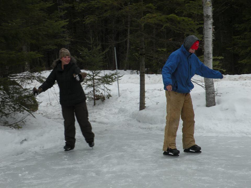ice skating at minocqua winter resort