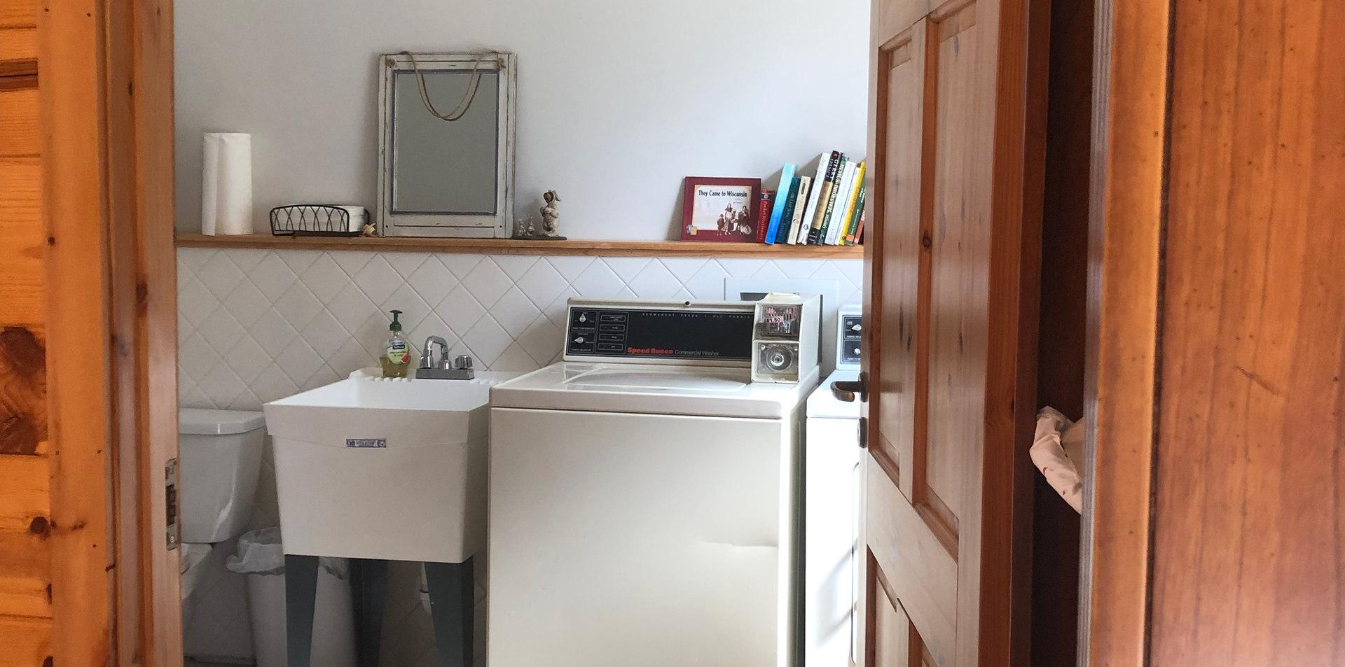 laundry room in resort lodge