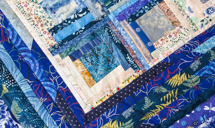 quilt design for art workshop in northwoods