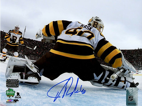 Tuukka Rask Boston Bruins Signed Autographed 2019 Winter Classic Net Cam 8x10