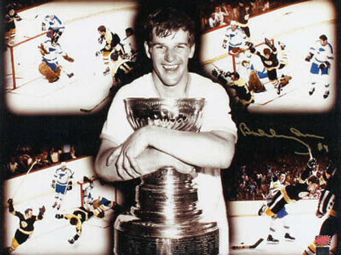 Bobby Orr Boston Bruins Signed Autographed Stanley Cup Flying Goal Montage 16x20