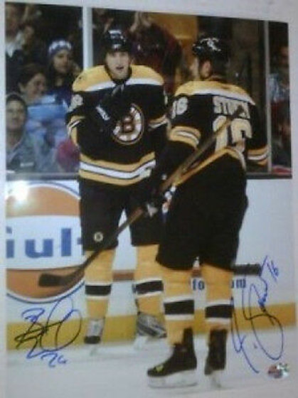 Blake Wheeler & Marco Sturm Boston Bruins signed 8x10