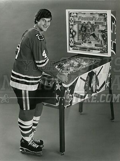 Bobby Orr Chicago Blackhawks Playing Pinball- Bruins  8x10 11x14 16x20 2064