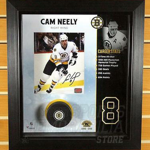 Cam Neely Boston Bruins Signed Autographed 8x10 Shadow Box Framed Display