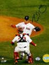 Clay Buchholz Boston Red Sox signed no hit 8x10 Varitek
