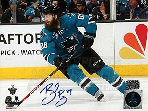 Brent Burns San Jose Sharks Signed Autographed 2016 Finals Action 8x10