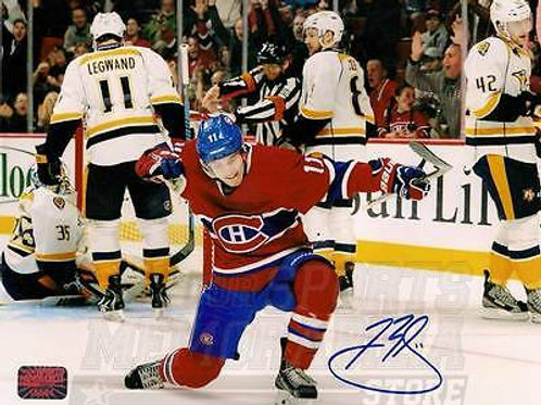 Brendan Gallagher Montreal Canadiens Signed Autographed Home Celebration 16x20