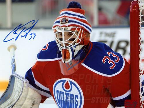 Cam Talbot Edmonton Oilers Signed Autographed NHL Heritage Classic Upclose 8x10