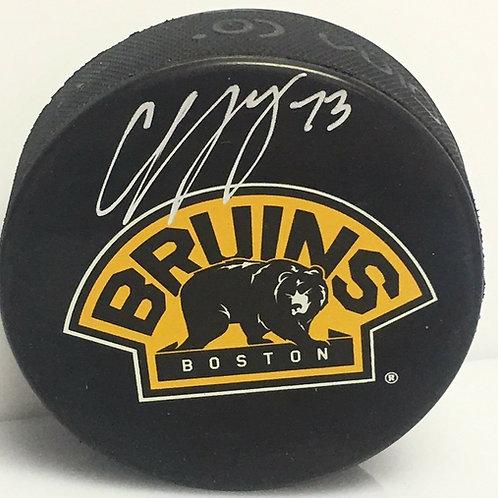 Charlie McAvoy Boston Bruins Signed Autographed alternate bear logo Puck