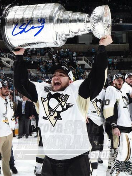Conor Sheary Pittsburgh Penguins Signed Autographed Raising Stanley Cup 16x20