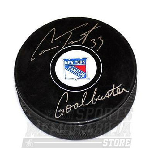 Cam Talbot New York Rangers Signed Autographed Rangers Goalbuster Inscribed Puck