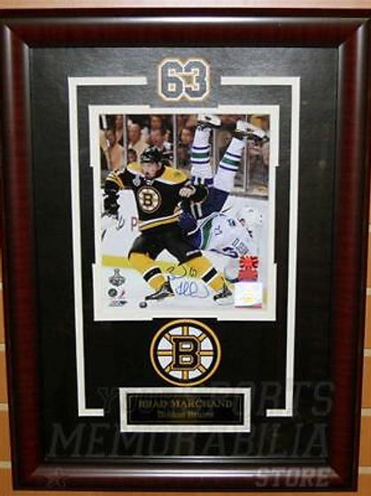 Brad Marchand Boston Bruins Signed Dumping Sedin Stanley Cup Finals 8x10 Framed