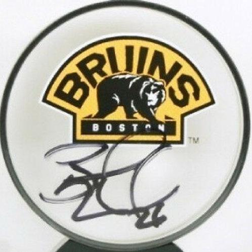 Blake Wheeler Bruins signed acrylic puck Winnipeg Jets