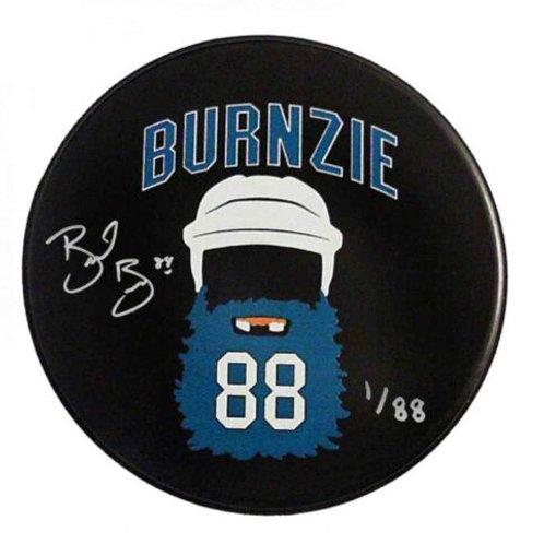 Brent Burns San Jose Sharks Signed Limited edition BURNZIE BEARD Hockey Puck