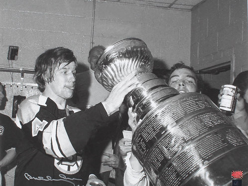 Bobby Orr Boston Bruins Signed Autographed Celebrate With The Stanley Cup 16x20