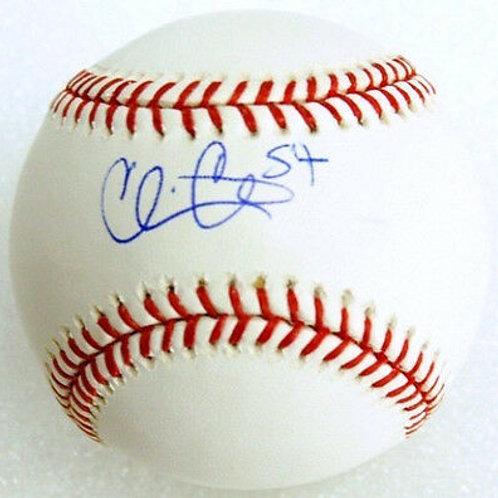 Chris Carter  New York Mets Boston Red Sox Signed MLB Baseball