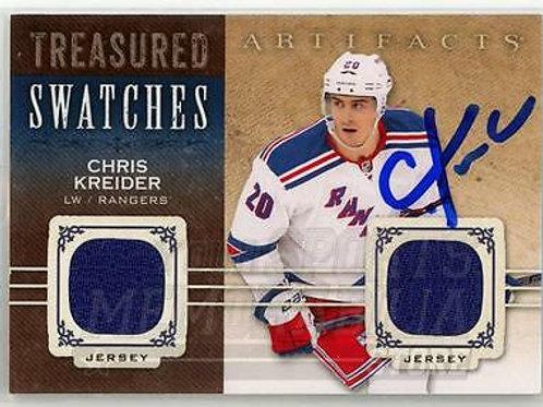 Chris Kreider New York Rangers Signed Autographed 14-15 UD Game Worn Jersey Card