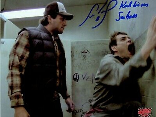Cam Neely Bruins Signed Inscribed Kick his @$$ Seabass Dumb and Dumber 8x10 B