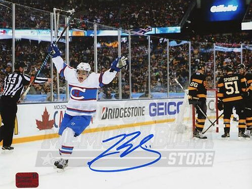 Brendan Gallagher Canadiens Signed Autographed 2016 Winter Classic Goal 8x10 A