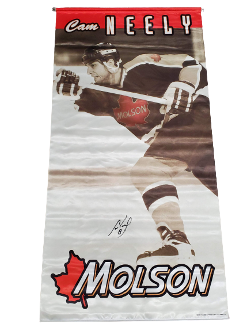 """Cam Neely Boston Bruins signed autographed MOLSON Banner 50"""" x 25"""""""