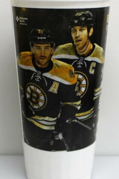 Boston Bruins 2016-17 Schedule Plastic Souvenir Drinking Cup Bergeron Chara