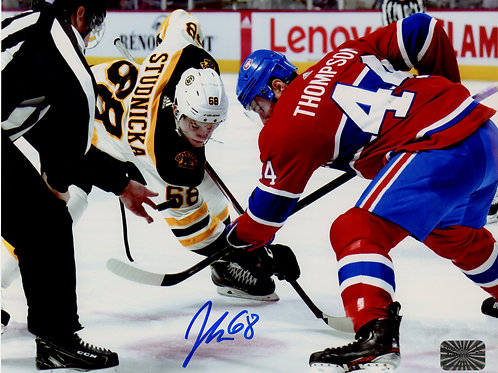 Jack Studnicka Boston Bruins Signed Autographed First Game vs Canadiens 8x10