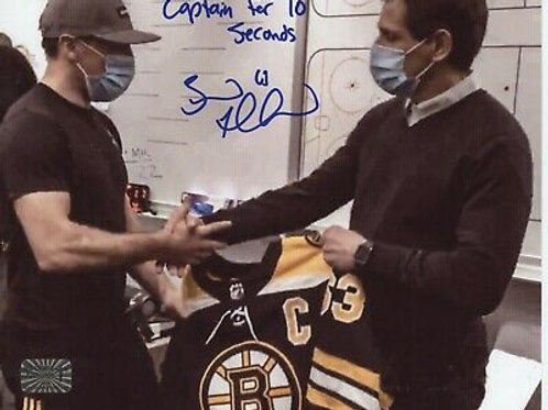 Brad Marchand Boston Bruins signed 8x10 inscribed Captain for 10 seconds