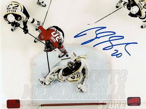 Brandon Saad Chicago Blackhawks signed Stanley cup finals action 8x10 Photo A