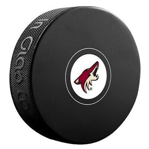 Arizona Coyotes Unsigned Coyotes Logo Hockey Puck