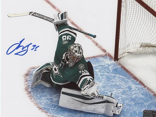Anton Khudobin Dallas Stars signed 8x10 Green Jersey glove save