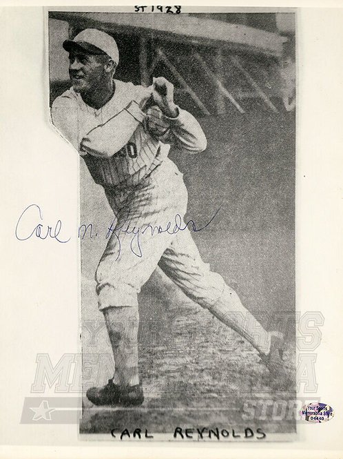 Carl Reynolds Chicago White Sox Signed Autographed 8x10