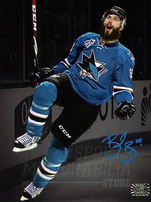 Brent Burns San Jose Sharks Signed Autographed Goal Scream Spotlight 8x10 B