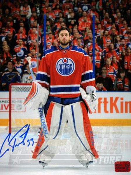 Cam Talbot Edmonton Oilers Signed Autographed Pregame Rexall Place 11x14