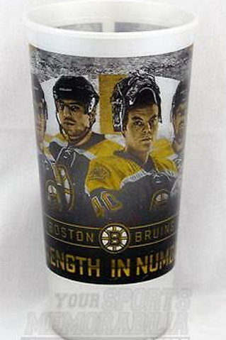 Boston Bruins Strength In Numbers Plastic Souvenir Drinking Cup Bergeron Rask