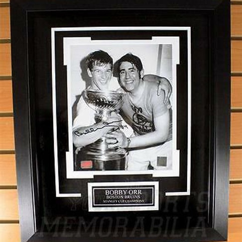 Bobby Orr Boston Bruins Signed Autographed Stanley Cup w/ Forestall 8x10 Framed