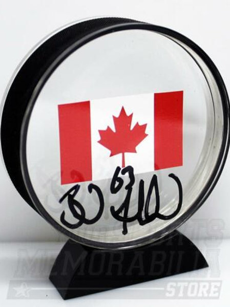 Brad Marchand Boston Bruins Signed Autographed Canada Flag Acrylic Puck