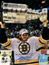 Adam McQuaid Boston Bruins signed Stanley Cup raising Cup 16x20 w/inscription